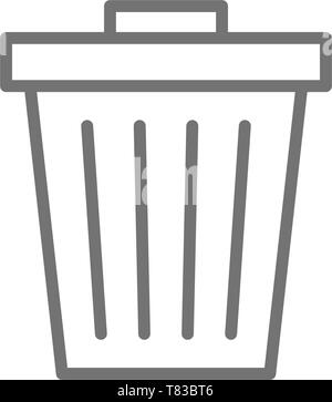 Trash can, garbage, waste line icon. - Stock Photo