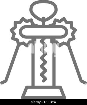 Corkscrew butterfly line icon. - Stock Photo