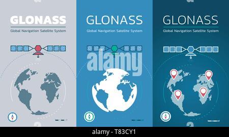 Smartphone Screens Of A GLONASS App - Stock Photo