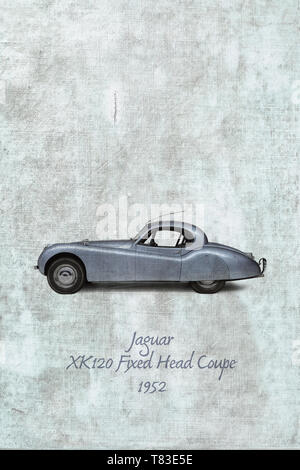 Jaguar  XK120 Fixed Head Coupe, 1952 - Stock Photo