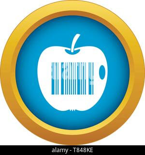 Code to represent product identification icon blue vector isolated - Stock Photo