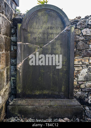 William Gibson's Gravestone Old Calton Burial Ground Edinburgh - Stock Photo
