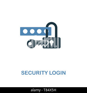 Security Login creative icon in two colors. Premium style design from web development icons collection. Security Login icon for web design, mobile app - Stock Photo