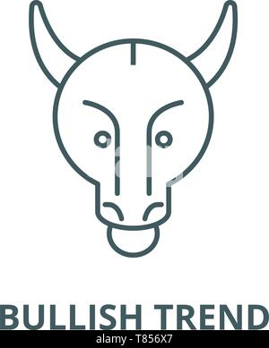Bullish trend vector line icon, linear concept, outline sign, symbol - Stock Photo