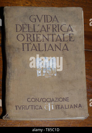 Italian Eastern Africa travel guide-book (1938 edition) - Stock Photo