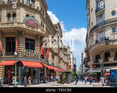 Galerías Pacífico on Calle Florida, a major shopping street in the city centre, Buenos Aires, Argentina - Stock Photo