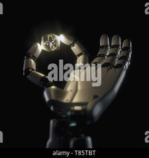 Artificial intelligence, conceptual illustration - Stock Photo