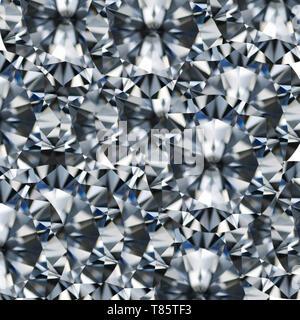 Round cut diamond, illustration - Stock Photo