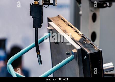 Robot welding system - Stock Photo