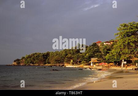 Cambodia, Sihanoukville or Preah Sihanouk, the beach - Stock Photo