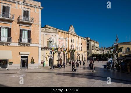 Italy, Matera, Vittorio Emanuele square - Stock Photo