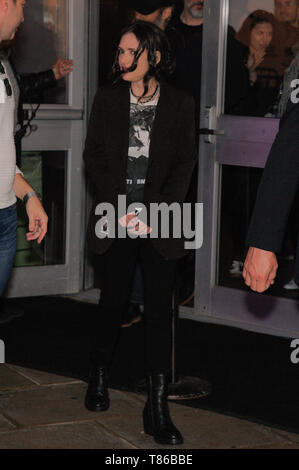 NEW YORK, NY - MAY 04: Actress Winona Ryder is seen leaving the 'Reality Bites' 25th Anniversary - 2019 Tribeca Film Festival at BMCC Tribeca PAC on M - Stock Photo