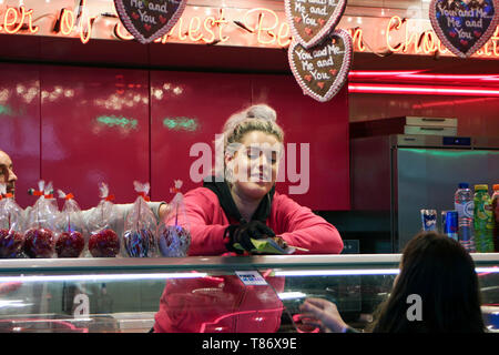 Candy vendor on Dam Square in Amsterdam, Netherlands - Stock Photo