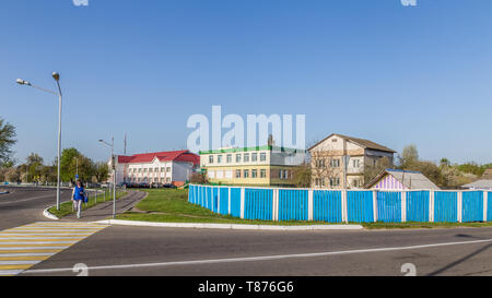 Chojniki, Belarus, - April 26, 2019: Village in Belarus near the 30 km exclusion zone of Chernobyl, opened for tourists from april2019. - Stock Photo