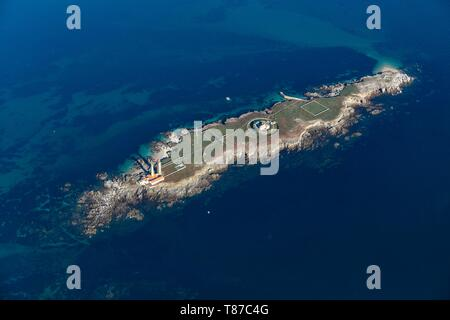 France, Vendee, Pilier island (aerial view) - Stock Photo