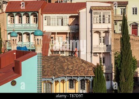 Georgia, Tbilisi, Old Town, Muslim Quarter, dawn - Stock Photo