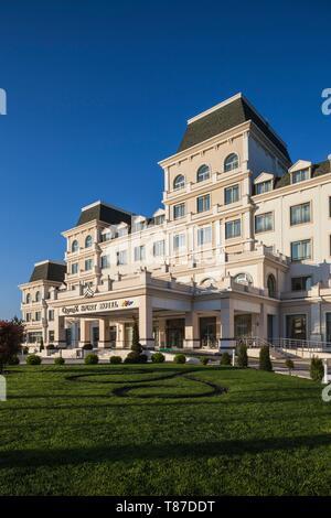 Azerbaijan Qabala Gabala Qafqaz Sport Hotel Dusk Stock Photo Alamy