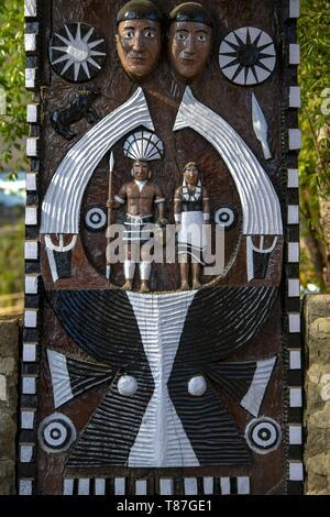 India, Nagaland, Kohima, annual meeting of all the Naga tribes during the Hornbill Festival, Naga door
