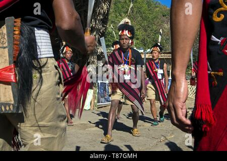India, Nagaland, Kohima, annual meeting of all the Naga tribes during the Hornbill Festival