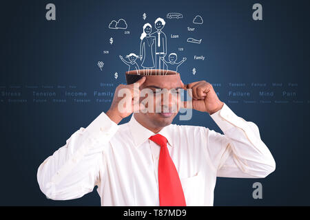 Man thinking about family - Stock Photo