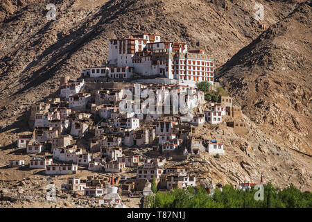 Chemre gompa Buddhist monastery in Ladakh, India - Stock Photo