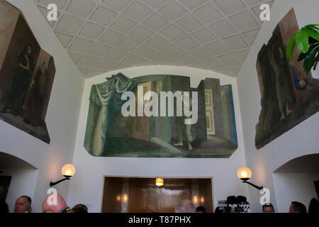 Inside The Main Building At The Nieuwe Ooster Cemetery At Amsterdam The Netherlands 2019 - Stock Photo