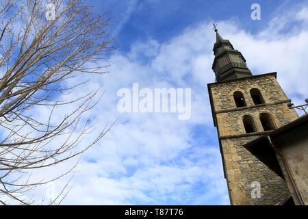 Eglise de Saint-Gervais et Protais avant rénovation. 2015. Saint-Gervais-les-Bains. - Stock Photo