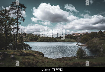 The Langdale Pikes and Loughrigg Tarn, English Lake District