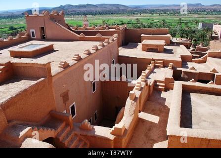 Ksar, traditional saharan berber building, Morocco - Stock Photo