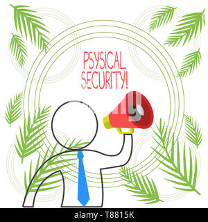 Word writing text Physical Security. Business photo showcasing designed to deny unauthorized access to facilities - Stock Photo