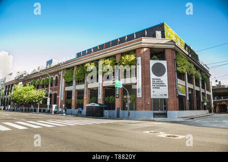 Buenos Aires Argentina - Dec 24, 2018:  Buenos Aires Argentina - Dec 24, 2018: Museum of Modern Art at San Telmo district in Buenos Aires city, Argent - Stock Photo