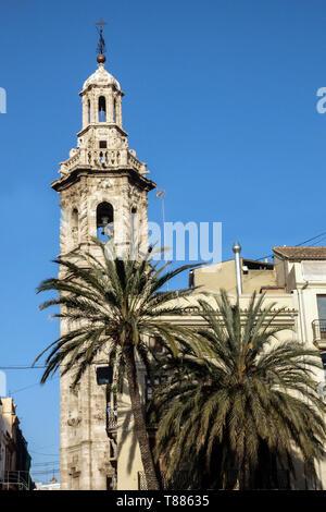 Valenci City Spain, Valencia Ciutat Vella Santa Catalina Belfry Tower  Old Town
