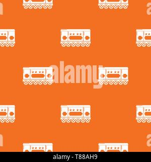 Compartment carriage pattern vector orange - Stock Photo