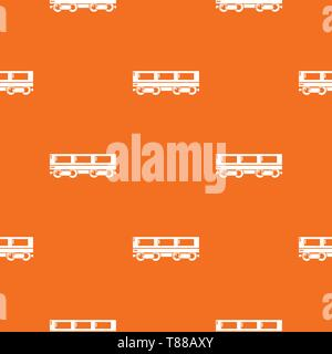 Passenger carriage pattern vector orange - Stock Photo