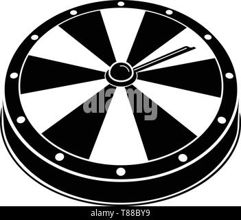 Fortune wheel icon, simple style - Stock Photo