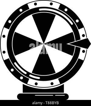 Lucky wheel icon, simple style - Stock Photo