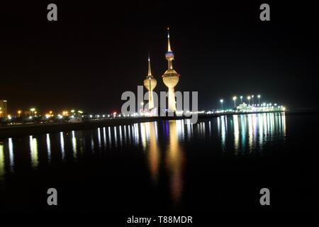 kuwait light tower - Stock Photo