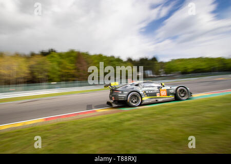 Aston Martin Vantage heads into Les Combes, WEC Total 6 Hours of Spa-Francorchamps 2019 - Stock Photo