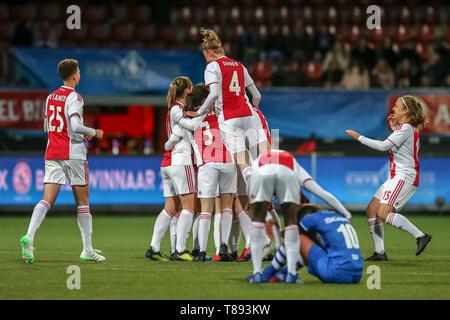ROTTERDAM, 11-05-2019 ,Woudestein, Eredivisie Women, Ajax Ð PEC Zwolle (women KNVB cupfinal) , season 2018 / 2019,   during the match Ajax Ð PEC Zwolle (women KNVB cupfinal) - Stock Photo