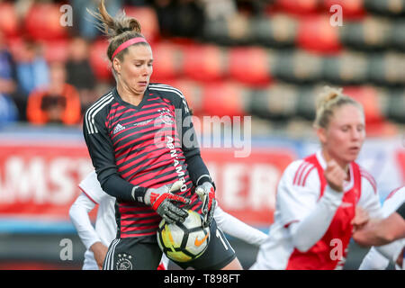 ROTTERDAM, 11-05-2019 ,Woudestein, Eredivisie Women, Ajax - PEC Zwolle (women KNVB cupfinal) , season 2018 / 2019, Ajax goalkeeper Lize Kop  during the match Ajax - PEC Zwolle (women KNVB cupfinal) - Stock Photo