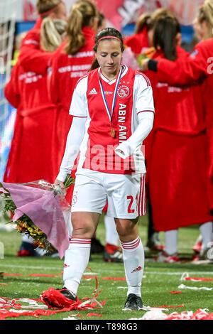 ROTTERDAM, 11-05-2019 ,Woudestein, Eredivisie Women, Ajax - PEC Zwolle (women KNVB cupfinal) , season 2018 / 2019,  Ajax player Vanity Lewerissa during the match Ajax - PEC Zwolle (women KNVB cupfinal) - Stock Photo
