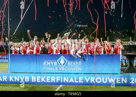ROTTERDAM, 11-05-2019 ,Woudestein, Eredivisie Women, Ajax - PEC Zwolle (women KNVB cupfinal) , season 2018 / 2019,   during the match Ajax - PEC Zwolle (women KNVB cupfinal) - Stock Photo