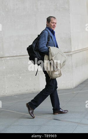 London, UK. 12th May 2019. Alistair Campbell seen at the BBC Studios in London Credit: WFPA/Alamy Live News - Stock Photo