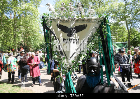 Russell Square, London, UK. 12th May, 2019. Pagans and non pagans celebrate Pagan Pride in London. Penelope Barritt/Alamy Live News - Stock Photo