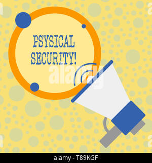 Text sign showing Physical Security. Business photo text designed to deny unauthorized access to facilities - Stock Photo