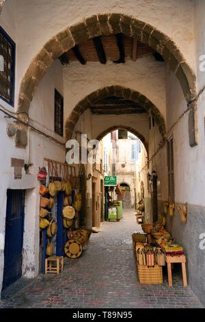 Morocco, Mogador, Marrakesh Safi region, Essaouira, listed as World Heritage by UNESCO, the medina - Stock Photo
