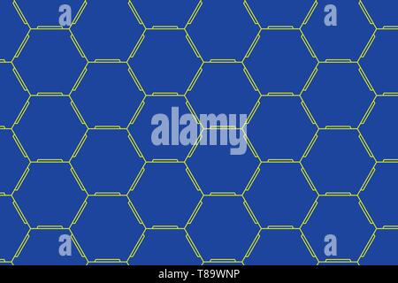 Hexagonal figures design. Modern geometric background honeycombed pattern Design business concept Empty template copy space text for Ad website isolat - Stock Photo