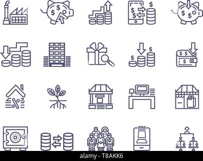 Simple Set of Money Related finance Vector Icons. Editable Stroke Perfect icons for mobile concepts and web apps - Stock Photo