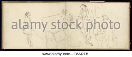 Edgar Degas (French, 1834 - 1917)-Soire - Stock Photo