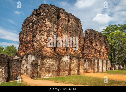 The impressive remains of the Royal Palace at Polonnaruwa in the North Central Province of Sri Lanka. - Stock Photo